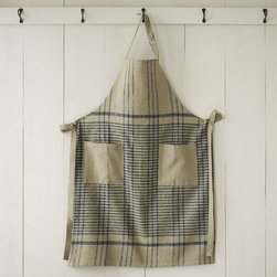 Cotton Apron, Grainery Plaid - This plaid apron looks like it could do double-duty as stain prevention and wall art.