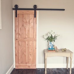 2-Panel Barn Door Kit - I have been wanting to use interior barn doors for almost 6 years. These are a must in my dream bedroom; I would use them as the entrance into the master bathroom or the walk-in closet.