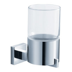 "Fresca - Glorioso Tumbler Holder - All of our Fresca bathroom accessories are made with brass with a triple chrome finish and have been chosen to compliment our other line of products including our vanities, faucets, shower panels and toilets.  They are imported and selected for their modern, cutting edge designs.  Dimensions 2.5""W X 4.5""D X 5""H; Finish Chrome; Shipping Free Shipping via FedEx 7 - 10 Business Days"