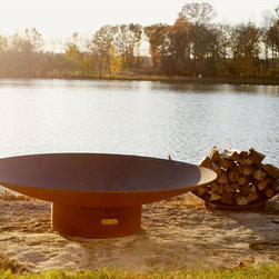 Fire Pit Art - Fire Pit Art - Asia 60 inch Modern Asian Inspired Fire Pit (FPA-AS-60) - The Asia series is a low close to the earth oriental design.