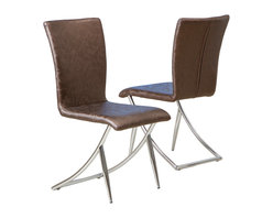 Great Deal Furniture - Benoite Modern Design Brown Dining Chairs (Set of 2) - Add a unique contemporary flare to any room in your house with the Benoite comfortable and stylish modern design chair.
