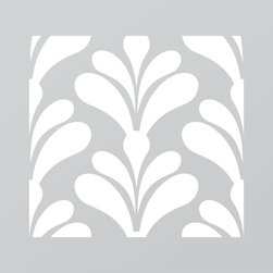 Just A Trace LLC - Just A Trace Garbo Art Deco Pattern Stencil 20-Inch - A classy Art Deco pattern stencil! Make a statement: repeat this design on your walls, floor, ceiling and furniture.