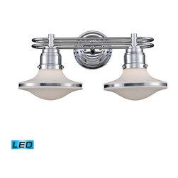 Elk Lighting - Elk Lighting 17051/2-LED Retrospectives Transitional Bathroom Light - Elk Lighting 17051/2-LED Retrospectives Transitional Bathroom Light in Polished Chrome
