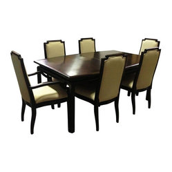 Dark Wood Dining Set