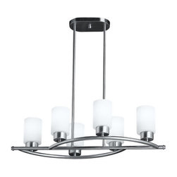 "Kichler - Kichler 3031NI Modena Single-Tier Linear Chandelier w/6 Lights - Stem - 29"" W - Kichler 3031NI Linear Chandelier"
