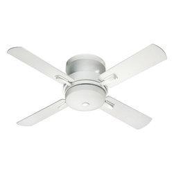 Joshua Marshal - Three Light Studio White Hugger Ceiling Fan - Three Light Studio White Hugger Ceiling Fan