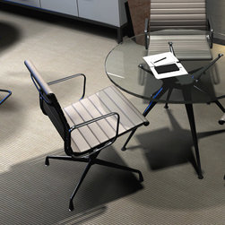 Pebble Tire collection - If you're hunting for a more unique resilient tile, look no further than our Pebble Tire Collection. This eco-friendly line composed of 100 percent recycled content adds visual punch or an air of serenity via styles that range from a faux pebble bed to a metal tread plate.