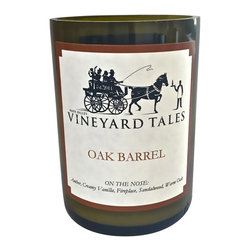Vineyard Tales - Oak Barrel Wine Candle - Napa Valley's Wine Candle Factory  - The third step in making wine happens in fine oak barrels. The oak barrels are filled to the brim with wine where it fully matures. Our Oak Barrel candle is genuine and crisp, to provide an added bit of sophistication unlike anything else.