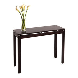 Winsome Wood - Winsome Wood Linea Console / Hall Table w/ Chrome Accent - Console / Hall Table w/ Chrome Accent belongs to Linea Collection by Winsome Wood This stylish console table is an ideal accent piece for any rom. Its long, flat surface is perfect to displaying photos or complement to an over crowded desk. Dark Espresso with Chrome Accent. Console / Hall Table (1)