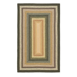 Safavieh - Safavieh Hand-woven Indoor/Outdoor Reversible Multicolor Braided Rug (5' x 8') - This reversible braided area rug will bring elegance to your home. Made of durable polypropylene,this pretty floor covering features colored rectangles placed inside of each other in a stunning geometric pattern,and it can stand up to repeated wear.