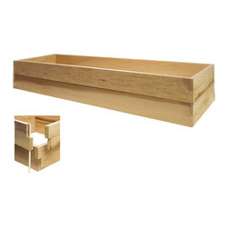 All Things Cedar - All Things Cedar RG72U-2 6ft. Double Raised Garden Earth Box - Our stackable raised bed system is the answer to the growing urban gardening trend. Can be set up anywhere in just minutes. As your gardening skills increase our system easily expands to meet your needs. Combine different sized kits to create your own custom design/size planter bed. Use indoors and outdoors.    Dimensions:   70 x 24 x 11 in. (w x d x h)