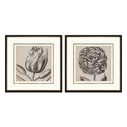 Paragon Art - Paragon Graphic Floral II ,Set of 2- Artwork - Graphic Floral II ,Set of 2    ,  Paragon Giclee               Shadow Box , Paragon has some of the finest designers in the home accessory industry. From industry veterans with an intimate knowledge of design, to new talent with an eye for the cutting edge, Paragon is poised to elevate wall decor to a new level of style.