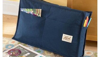 Kids' Throw Pillows: Kids Blue Study Lean Back Pocket Pillows in Kids Throw Pill