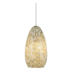 LBL Lighting - LBL Lighting Banja Ivory Opaque 35W Monopoint 1 Light Track Pendant - LBL Lighting Banja Ivory Opaque 35W Monopoint 1 Light Track PendantShowcasing richly layered Ivory Opaque teardrop shaped glass with subtle gold undertones, this gorgeous pendant will add pinache to any d�cor. The included energy efficient 35 watt xenon bulb provides ample light and lower energy consumption than standard bulbs.Each Monopoint lighting fixture includes a single-point canopy with built-in transformer right out of the box for a quick and easy installation.LBL Lighting Banja Ivory Opaque 35W Monopoint Features: