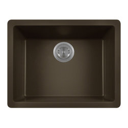 MR Direct - MR Direct 808 Trugranite Single Bowl, Mocha - Our Granite sinks come in four beautiful colors to match any countertop; black, white, mocha, beige and silver. Our Granite line is made with 80% Quartzite and 20% Acrylic. They also have silver ions in the sink which kills 99% of bacteria on contact. Granite sinks are the most durable option for a kitchen sinks. They are extremely scratch resistant, can withstand heat up to 550 Degrees and are unaffected by household acids and cleaners. The granite is also completely stain resistant. The acrylic acts as a natural sound dampener making the sinks very quiet. Our Granite sinks are covered by a limited lifetime warranty. Each sink come with a cardboard cutout template and mounting hardware.