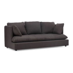 Zuo Modern - Zuo Pacific Heights Sofa in Charcoal Gray - Pacific Heights Sofa in Charcoal Gray by Zuo Modern Our European-inspired take on the classic Sofa in redefines it for a new age. Low to the ground, deep in profile, sleekly streamlined, and overstuffed for casual yet sophisticated appeal, it's a chic, ultra-comfortable twist on tradition. Comes in either beige or charcoal linen fabrics. Sofa in (1)