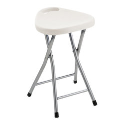 Gedy - Chrome Bathroom Stool with Assorted Color Seat, White - Add this high-quality, contemporary foldable bathroom stool to your already contemporary personal bath. Made in very high quality thermoplastic resins and available in multiple finishes. This free standing foldable bathroom stool is imported from and manufactured in Italy by Gedy and is from the Gedy Klapphocker collection. Contemporary foldable bathroom stool made of thermoplastic resins. Coated in assorted colors. Part of the Gedy Klapphocker collection. Imported from and manufactured in Italy. Decorative, designer foldable bathroom stool. Depth when collapsed: 2 inches.
