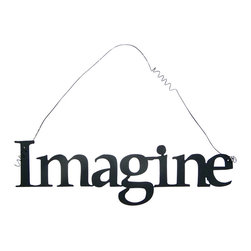 Inspirational Word IMAGINE Wall Hanging Home Decor Metal - This listing is for one inspirational word, IMAGINE