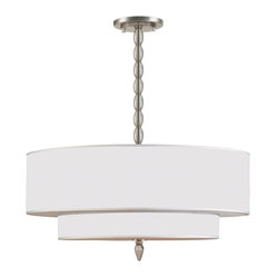 "Crystorama Luxo Satin Nickel 26"" Wide Chandelier"
