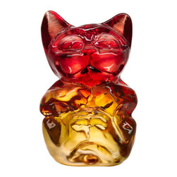 """Kosta Boda - My Wide Life Babies (YumYum the Cat) - Designed by Ludvig Lofgren. The name """"My Wide Life"""" applies to the fact that Ludvig lives a wide life where he collects his inspiration from...life and everything around him. The jungle has come to Kosta Boda."""