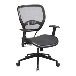 Office Star - Office Star Space Collection: Air Grid Deluxe Task Chair in Black - Office Star - Office Chairs - 5560 - Elegance and efficiency flow perfectly with the Office Star Air Grid Mesh Seat and Back Deluxe Task Chair. The professional Air Grid mesh back and seat provides maximum comfort for hours of long sitting. Show your clients and co-workers you mean business with this sleek and attractive Air Grid Deluxe Task Office Chair!