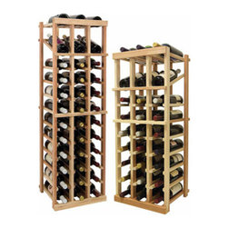 Wine Cellar Innovations - 3 Columns Individual w/Display; Vintner: Rustic Pine, Unstained, 4 Ft - Each wine bottle stored on this three column individual bottle wine rack is cradled on customized rails that are carefully manufactured with beveled ends and rounded edges to ensure wine labels will not tear when the bottles are removed. This wine rack also has a built in display row. Purchase two to stack on top of each other to maximize the height of your wine storage. Moldings and platforms sold separately. Assembly required.