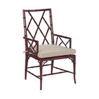 EuroLux Home - Dining Armchair, Brighton Red Hardwood - Product Details