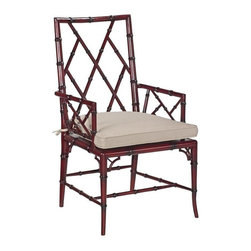 EuroLux Home - New Dining Arm Chair Brighton Red Hardwood - Product Details