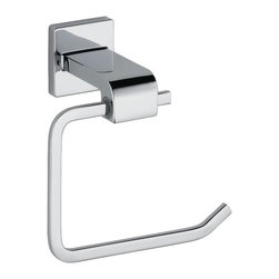 Delta - Delta Arzo Toilet Paper Holder - 77550 - Shop for Toilet Paper Holders from Hayneedle.com! About Delta FaucetPairing inspirational design with innovations that anticipate people's needs Delta produces kitchen faucets bathroom faucets and shower systems that are as beautiful as they are functional. Delta puts all of their products through a strict regimen of durability testing. Delta Faucet is committed to green manufacturing processes and helping people to be smarter and more environmentally responsible in how they use water. All of these things add up to show how Delta is more than just a faucet.