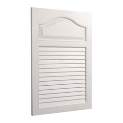 Broan-NuTone - Broan-Nutone White Grained Wood Look Louver Door 16W x 24H in. Medicine Cabinet - Shop for Bathroom Cabinets from Hayneedle.com! Open these shutters and discover the Broan-Nutone White Grained Wood Look Louver Door Medicine Cabinet - 16W x 24H in.. This charming louvered door looks like wood but is made of white polystyrene so it doesn't need painting ever. Hidden inside is a roomy cabinet that discreetly holds medications cosmetics and personal items. The hidden piano hinge opens easily to reveal lots of recessed storage space on two fixed shelves. The molded plastic body won't rust and cleans with a wipe. It's a reassuring and cheerful addition to any bathroom. Backed by a one year manufacturer's warranty. Assembles easily with included instructions. Single Door 16x24 Cabinet:Dimensions: 16.25W x 4.625D x 24.5H inchesRough opening required: 14W x 2.5D x 18H inchesShelf depth: 2.5D inches About Broan-NuToneBroan-NuTone has been leading the industry since 1932 in producing innovative ventilation products and built-in convenience products all backed by superior customer service. Today they're headquartered in Hartford Wisconsin employing more than 3200 people in eight countries. They've become North America's largest producer of medicine cabinets ironing centers door chimes and they're the industry leader for range hoods bath and ventilation fans and heater/fan/light combination units. They are proud that more than 80 percent of their products sold in the United States are designed and manufactured in the U.S. with U.S. and imported parts. Broan-NuTone is dedicated to providing revolutionary products to improve the indoor environment of your home in ways that also help preserve the outdoor environment.