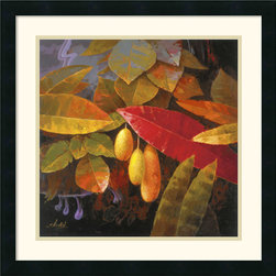 Amanti Art - Tropical Leaves I Framed Print by Jung K. An - Secret and alluring fruit dangle delicately in a hidden nook of the jungle.