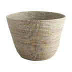 Large African Handmade Basket - Our Large African Basket is great for housing pillows and throws and can provide a stylish base for a houseplant.