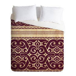 DENY Designs - Arcturus Beru Duvet Cover - Turn your basic, boring down comforter into the super stylish focal point of your bedroom. Our Luxe Duvet is made from a heavy-weight luxurious woven polyester with a 50% cotton/50% polyester cream bottom. It also includes a hidden zipper with interior corner ties to secure your comforter. it's comfy, fade-resistant, and custom printed for each and every customer.