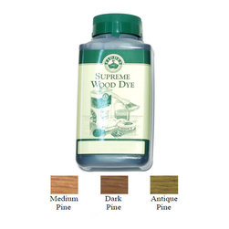 1 Liter Antique Pine - Fiddes Pine Water Based Wood Stain Dye - Recommended for use on new or old pine furniture for aged/antique look