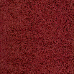 """Nourison - Nourison Zen ZEN01 (Red) 7'6"""" x 9'6"""" Rug - The shag is back with Zen. This hip, eclectic shag rug looks and feels fabulous. The collection features a luxurious, soft pile and rich, lustrous colors. These super-plush and funky rugs provide a unique decorating option."""