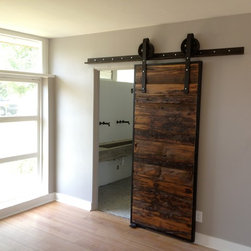 Sliding Barn Door - Mushroom Wood / Red-Grey Hemlock - Thomas Porter