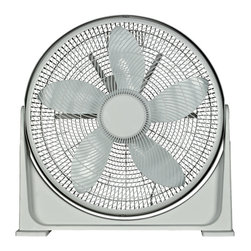 Optimus - Fan 20-inch Turbo High Performance Air Circulator - Keep your cool when things start to heat up with this turbo-charged fan. It has a powerful motor with sleek — European styling that won't detract from your home's decor.