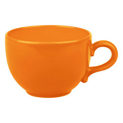 Waechtersbach - Set of 4 Jumbo Cups Fun Factory Orange - Make mornings lively with these Fun Factory Orange Jumbo Cups. Available in a variety of bold hues, these oversized round mugs are a must-have for every cocoa or coffee lover.