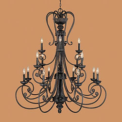 Millennium Lighting - Brunswick Burnished Gold Sixteen-Light Chandelier - -Includes 5 ft. of chain and 10 ft. of wire  -Product material:Steel  portion of item made of resin Millennium Lighting - 7016-BG
