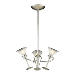 ELK Lighting - ELK Lighting 3655/3 Martini Glass Silver Leaf 3 Light Chandelier - ELK Lighting 3655/3 Martini Glass Silver Leaf 3 Light Chandelier