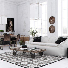 Eclectic Living Room by Aeroslon