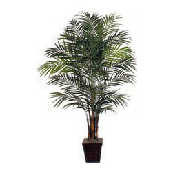 Oriental-Décor - 8' Areca Palm Full-Bodied Artificial Tree - Craving for the sunny look of the tropics right in your own home? Planning to recreate a beautiful tropical paradise for an upcoming party or a summer-themed affair? Areca palms have been used extensively for exterior and interior decorating and landscaping. Decorators and landscape artists admire the elegant beauty of the Areca palm, which can be potted and pruned regularly to achieve the right size. Now you can have your own Areca palm right at home with this artificial house plants 8 foot Areca Palm Full-Bodied Artificial Tree. Featuring a fuller design than the rest of the Areca palms available in this collection, this synthetic palm tree is sure to give your interiors a breezy, tropical style. You may use this beautiful palm near swimming pools, in commercial spaces, or in locations where live palms do not thrive well. This 8 foot Areca Palm Full-Bodied Artificial Tree is one of the best ways to decorate your stylish, comfortable indoors.