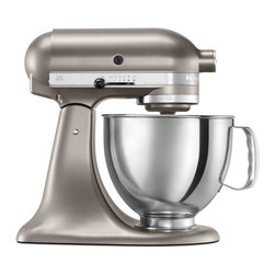 KitchenAid - KitchenAid RRK150CS Cocoa Silver 5-quart Artisan Tilt-Head Stand Mixer (Refurbis - Create delicious desserts and remarkable entrees with this durable KitchenAid five-quart mixer. It features a 325-watt motor and 10 different speeds. It also has a power hub that will accept additional attachments including a dough hook.