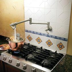 Pot Filler Faucet - Moen S664CSL Pot Filler Two Handle Wall Mount Kitchen Faucet in Classic Stainless