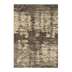 """Grandin Road - Rada Lambswool Area Rug - 3'11"""" x 5'5"""" - Plush area rug in neutral hues. 100% polypropylene with the feel of soft, natural wool. 1"""" thick. Extend the life of your rug with a nonslip rug grip (sold separately). With a plush pile and abstract design that, together, resemble a traditional Flokati, the Rada Lambswool area rug offers exceptional softness underfoot and chic, modern flair for your floor.. . . . Made in the USA."""