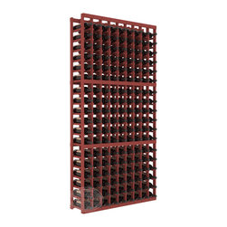 9 Column Standard Cellar Kit in Pine with Cherry Stain - A 9 column solution from our most popular style of wine racking. Completely solid assembly to withstand extensive use. We guarantee it. All the edges of our products are softened to ensure you won't get nicks or splinters, like you will from budget brands. You'll be satisfied. We guarantee that, too.