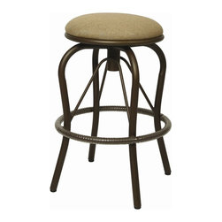 """Pastel Furniture - Pastel Furniture Bushnell Outdoor Barstool (Set of 2) - The Bushnell 30"""" height outdoor backless swivel barstool with aluminum frames with cast aluminum back upholstered in Sunbrella Fabric. This beautifully designed outdoor barstool with its engaging mix of color and texture will take your outdoor living to a whole new place."""