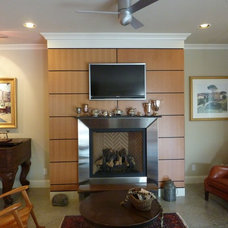 Contemporary Living Room Fireplace Detail