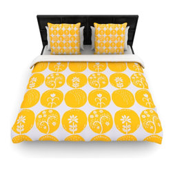 "Kess InHouse - Anneline Sophia ""Dotty Papercut Yellow"" Circles Gray Cotton Duvet Cover (Queen, - Rest in comfort among this artistically inclined cotton blend duvet cover. This duvet cover is as light as a feather! You will be sure to be the envy of all of your guests with this aesthetically pleasing duvet. We highly recommend washing this as many times as you like as this material will not fade or lose comfort. Cotton blended, this duvet cover is not only beautiful and artistic but can be used year round with a duvet insert! Add our cotton shams to make your bed complete and looking stylish and artistic!"