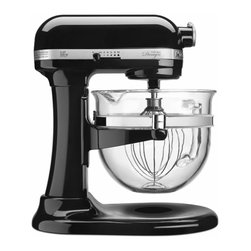 KitchenAid - KitchenAid KF26M22OB Onyx Black 6-quart Bowl-Lift Pro 600 Design Series Stand Mi - Make cookies,cakes and more with this sleek and stylish glossy black mixer from KitchenAid. With ten speeds and 550 watts,this 6-quart mixer comes with a clear glass bowl,coated beater,spiral dough hook and wire whip.
